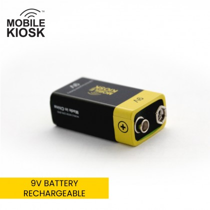 9V USB Rechargeable Battery